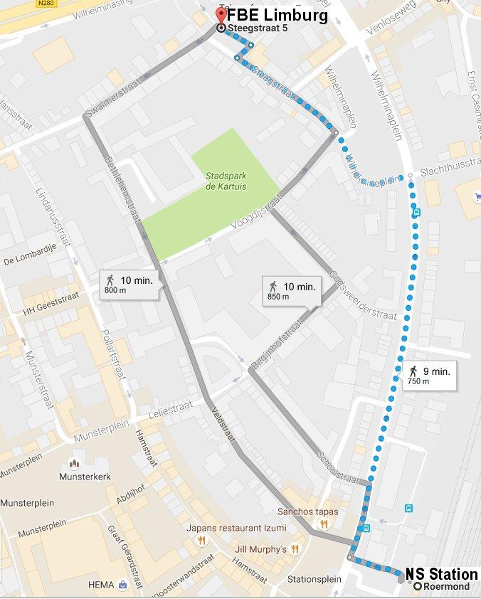 kaart-wandelroute-naar-fbe-limburg-vanaf-station-ns